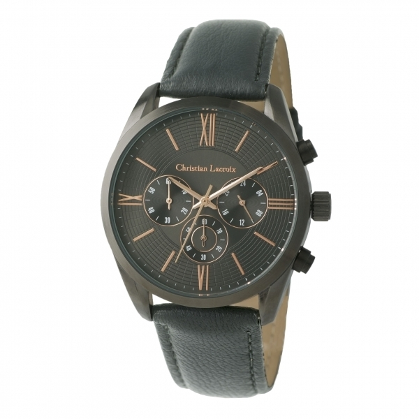 Chronograph Textus Leather Grey LMK770J